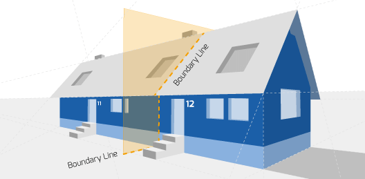 Party Wall illustration for Kidsgrove