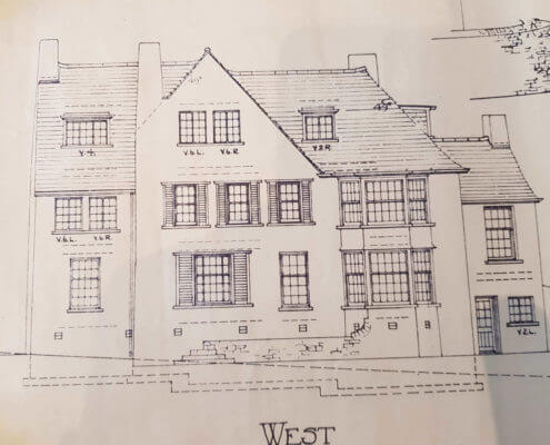 Burntwood Surveyors. Building Plan of an old traditional house